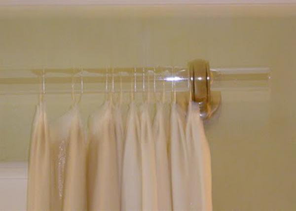 transparent pmma acrylic curtain rods