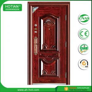 Quality Latest Steel Apartment Entrance Door Metal Swing Main Gate Design For