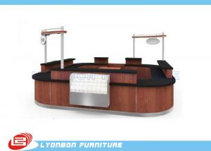 shopping mall mdf reclaimed wood reception desk laminated melamine finished for sale wood reception desk manufacturer from china 100098886