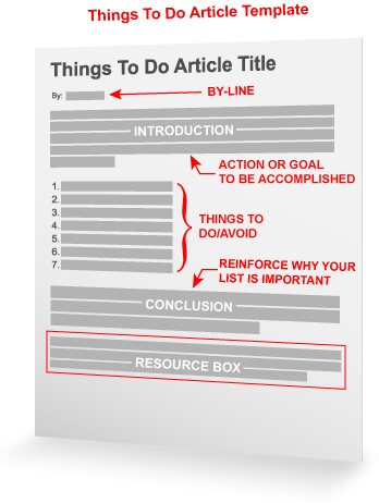Things To Do Article Template