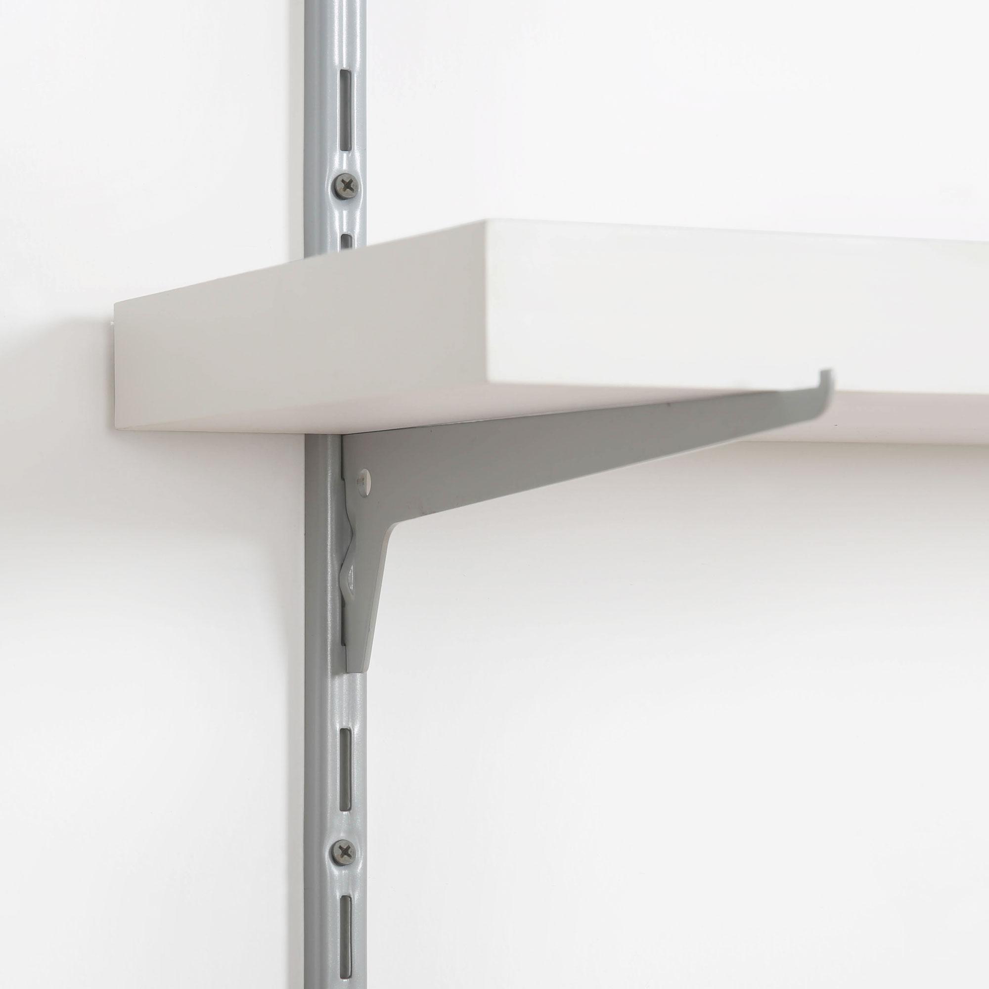 details sur support d etagere murale console simple pour cremaillere 1 rangee rail mural