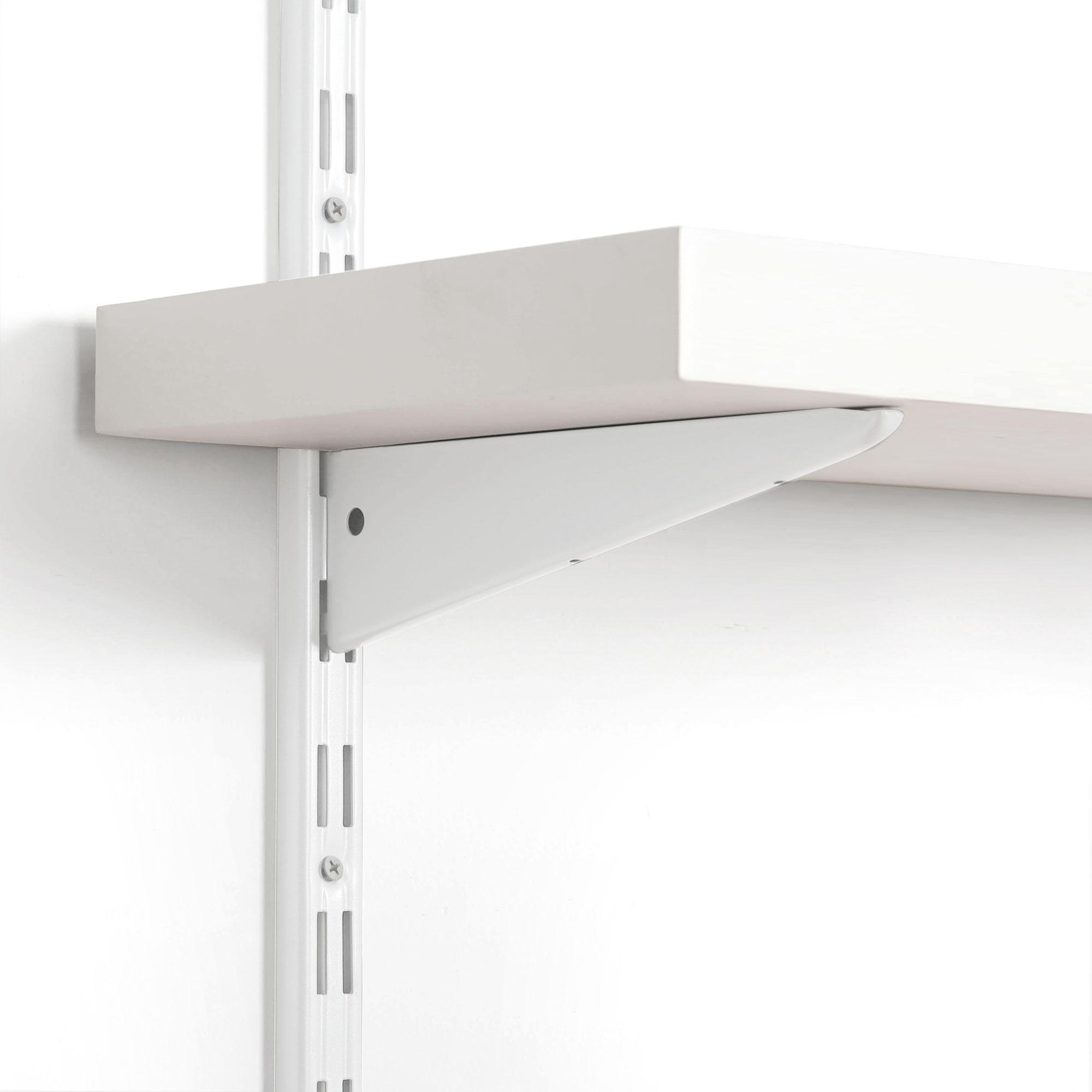details sur support d etagere murale console double pour cremaillere 2 rangees rail mural