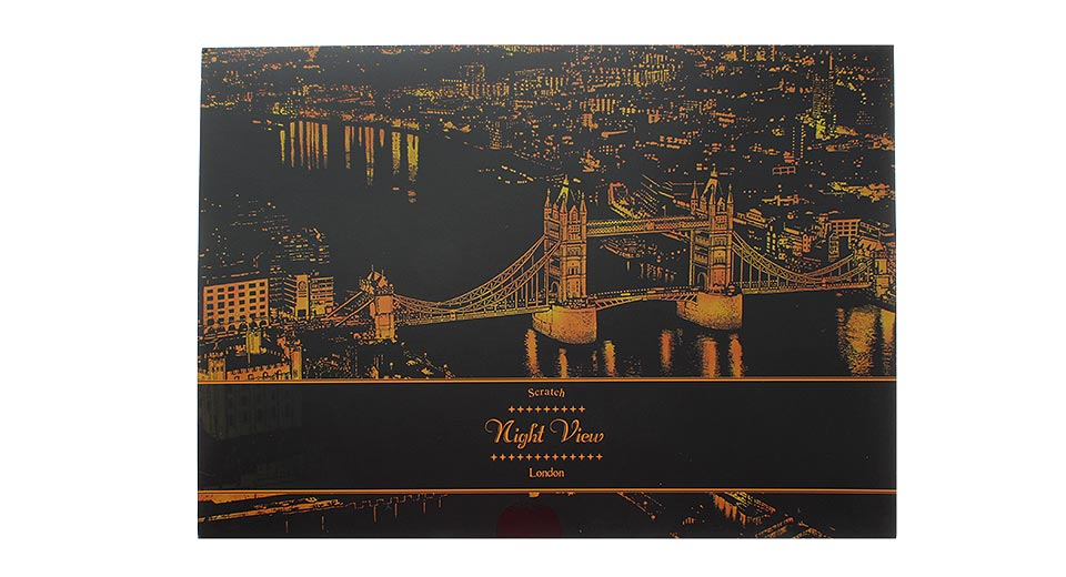 456 Scratch Night View Stress Relieve Scratch Art Book For Kids Amp Adults London Night View