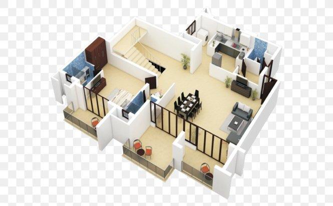 Duplex House Plan Apartment Floor