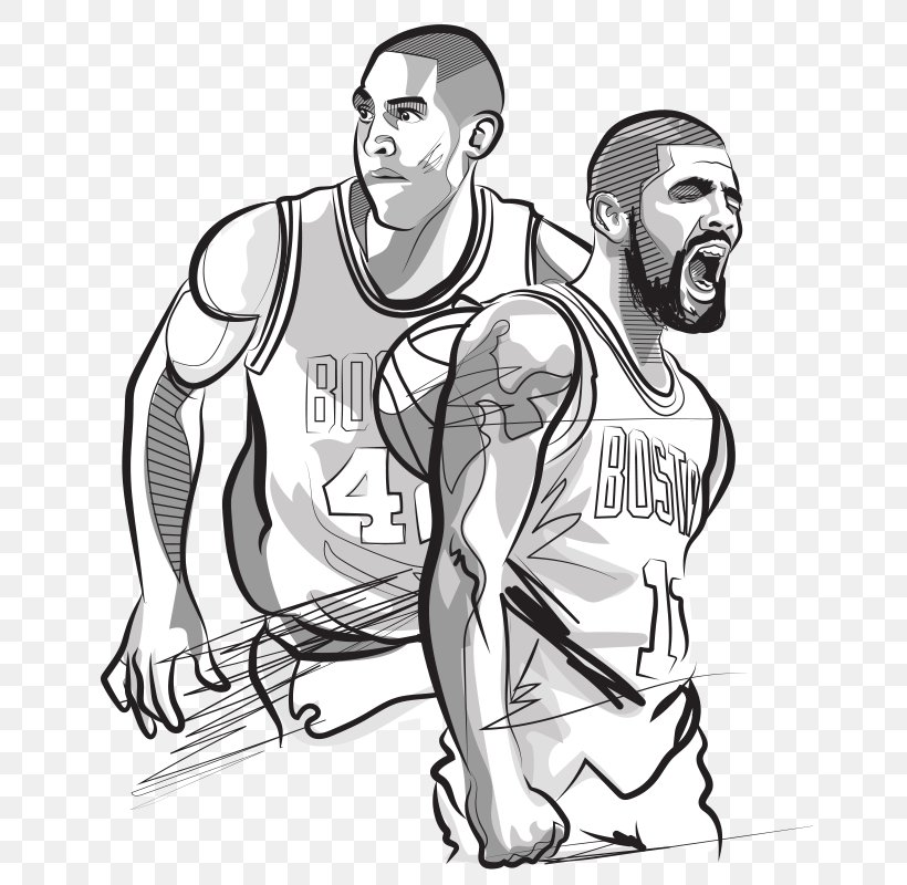 Basketball Boston Celtics Cleveland Cavaliers Nba Coloring Book Png 650x800px Basketball Area Arm Art Basketball Player