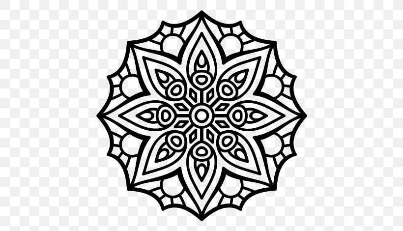 Mandala Coloring Book Drawing Child Png 600x470px Mandala Area Attentional Control Black Black And White Download