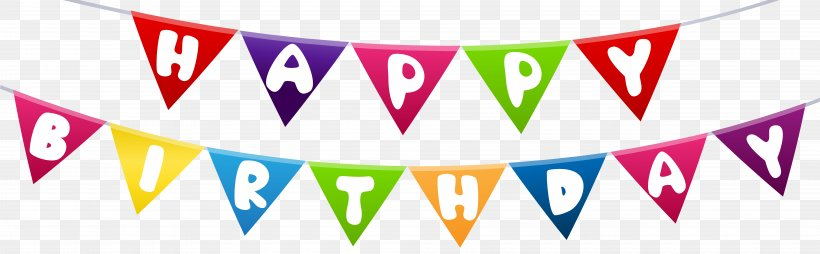 Happy Birthday To You Clip Art Png 8000x2484px Birthday Advertising Balloon Banner Brand Download Free