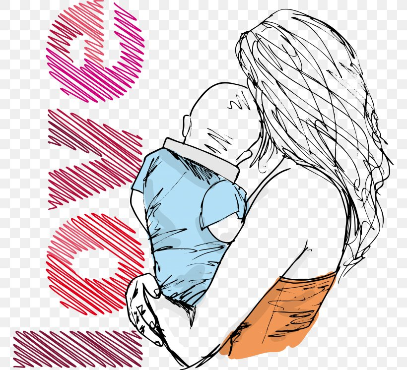 Mother Drawing Child Png 768x746px Watercolor Cartoon Flower Frame Heart Download Free