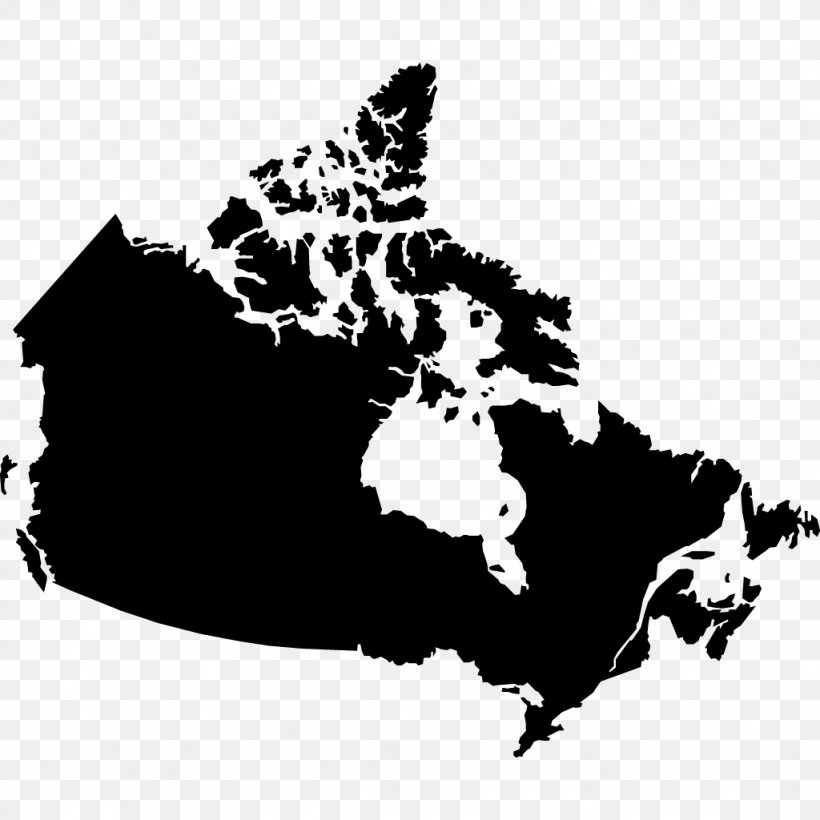 Canada Vector Map Blank Map Png 1024x1024px Canada Black Black And White Blank Map Carnivoran Download