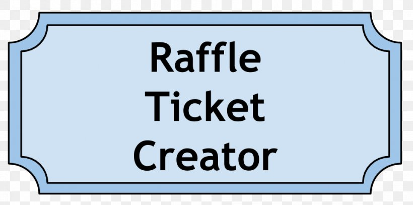 Raffle Template Microsoft Word Ticket Png 962x478px