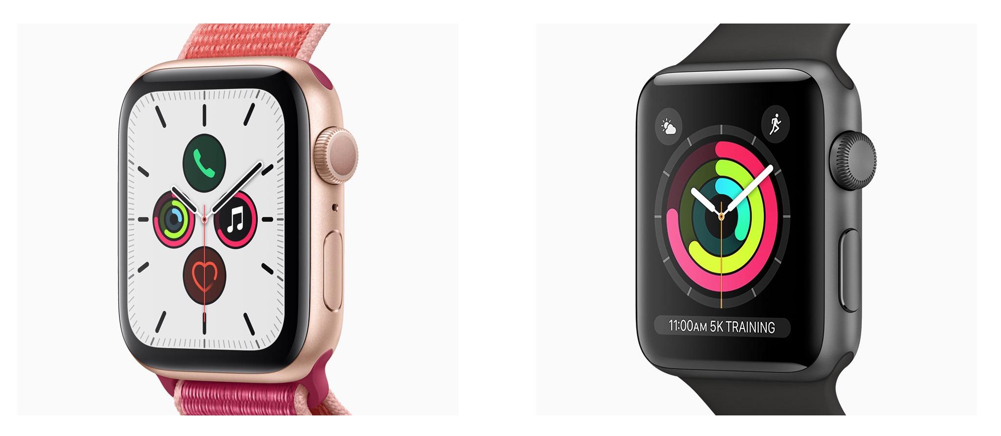 Apple Watch Series 3 vs 4 vs 5 – Conheça as diferenças