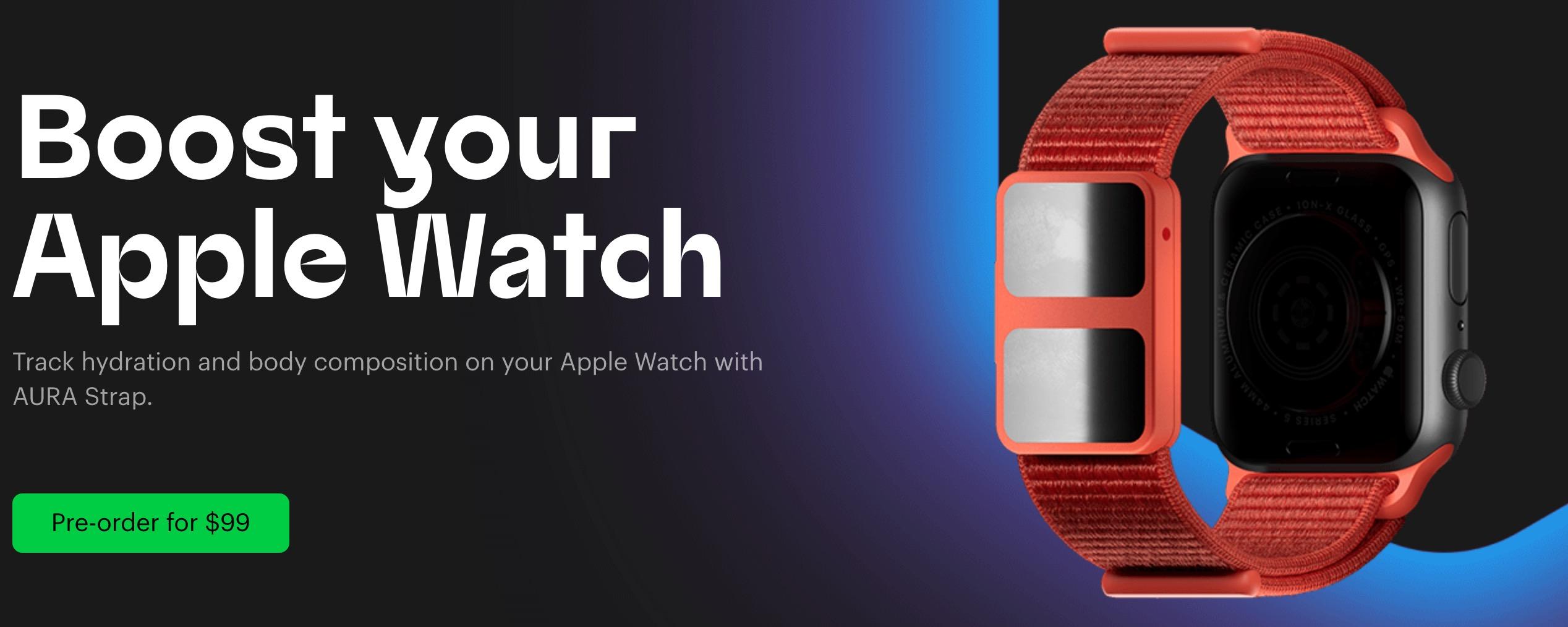Novos sensores de hidratação e composição corporal para o Apple Watch