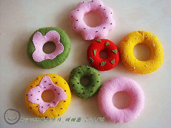 [不織布手作]甜甜圈