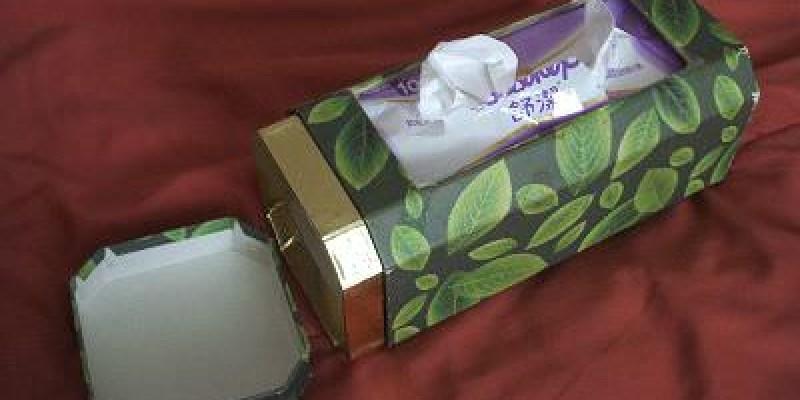 舊物改造 茶葉罐大變身,超簡單面紙盒