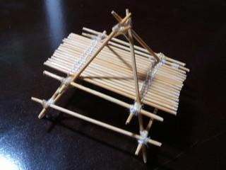 【DIY】竹‖牙籤+縫衣線=迷你露營餐桌