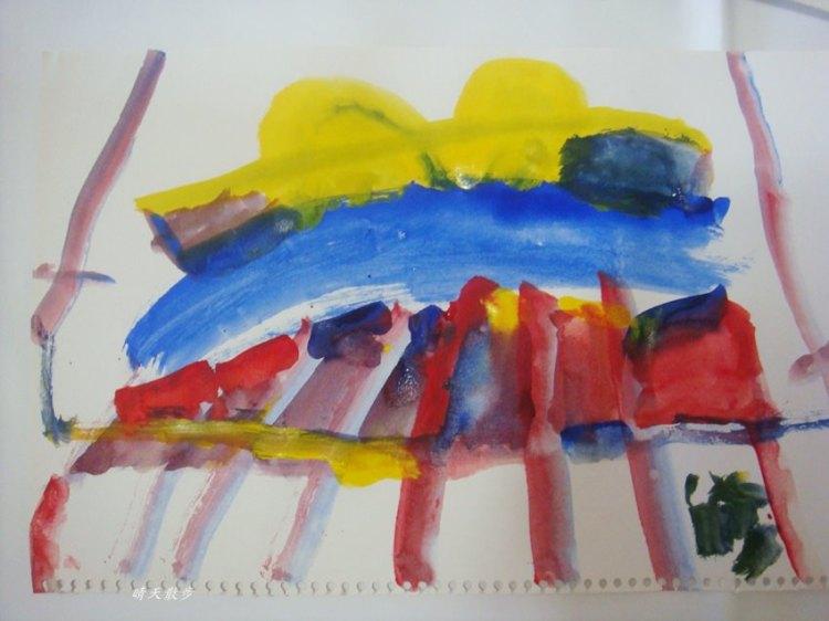 親子|小小孩愛畫畫 鄭寶貝四歲水彩塗鴉紀錄