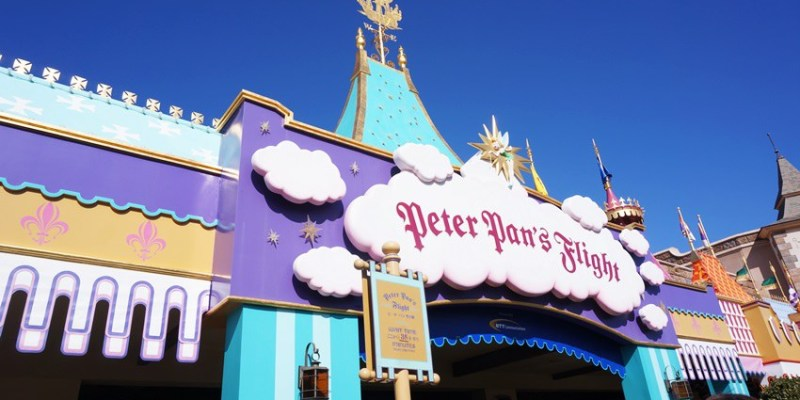 [日本]東京迪士尼樂園∥夢幻樂園:小飛俠天空之旅Peter Pan's Flight~乘坐海盜船遨遊倫敦夜空 暢遊小飛俠的世界 彷彿真的飛在空中