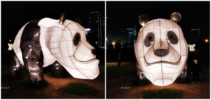 20200213164448 50 - 台中燈會|2020台灣燈會在台中,副展區文心森林公園戽斗星球動物晚上也好拍,還有人造雪喔!