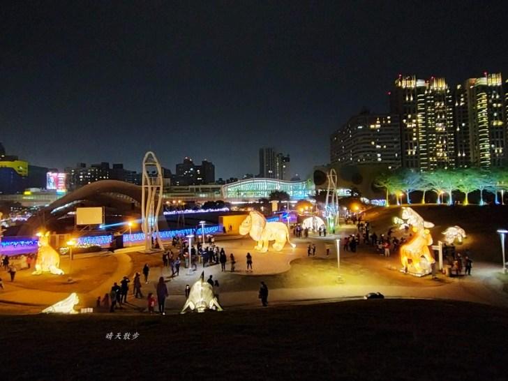 20200213164518 14 - 台中燈會|2020台灣燈會在台中,副展區文心森林公園戽斗星球動物晚上也好拍,還有人造雪喔!