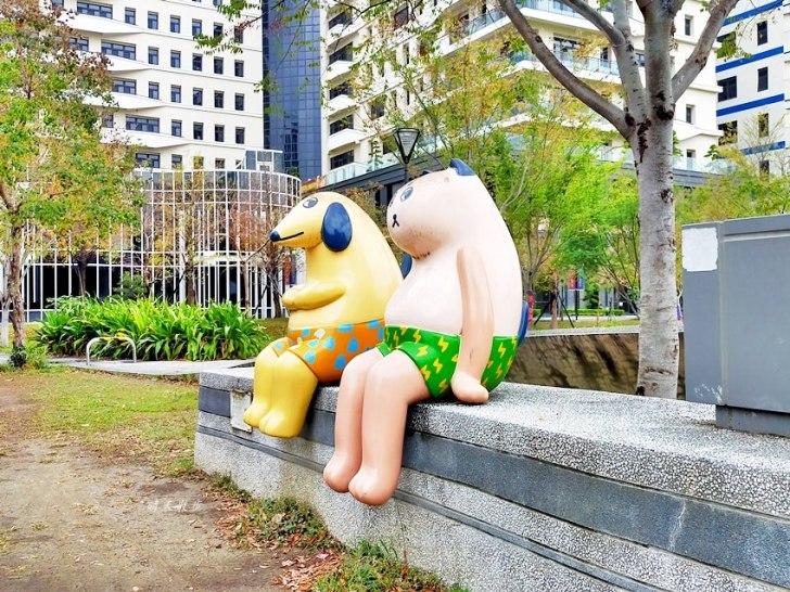 20200314003328 78 - 大里東湖公園│大里Dali Art 文創藝術廣場旁公園,大型裝置藝術作品,讓平凡公園變得超可愛!