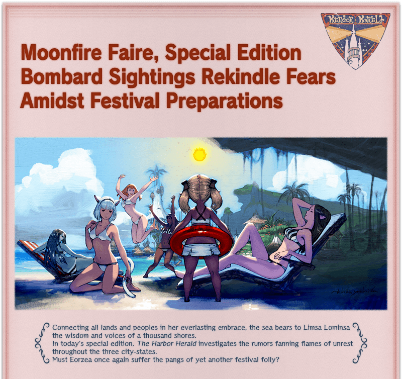 Moonfire Faire, Special EditionBombard Sightings Rekindle Fears Amidst Festival Preparations