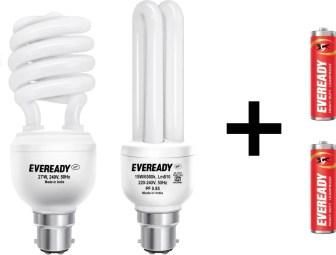Eveready 27 W, 15 W B22 CFL Bulb(White, Pack of 2)