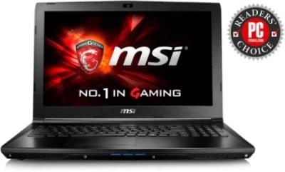 MSI GL series Core i7 6th Gen - (8 GB/1 TB HDD/Windows 10/4 GB Graphics) 6QF GL62 6QF Notebook(15.6 inch, Black, 2.3Kg kg)
