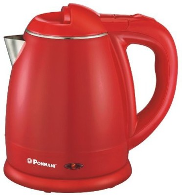 Ponmani SSR-1.5 Electric Kettle(1.5 L, Red)
