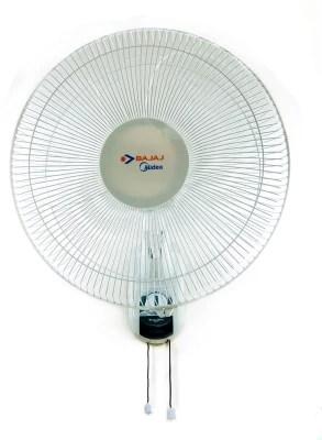 Bajaj Midea BW04 400mm 3 Blade Wall Fan(White)