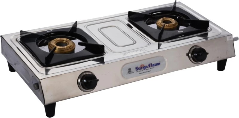 Surya Flame Eco Deluxe Stainless Steel Manual Gas Stove(2 Burners)