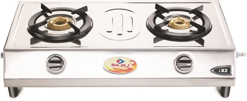 Bajaj Stainless Steel Automatic Gas Stove(2 Burners)