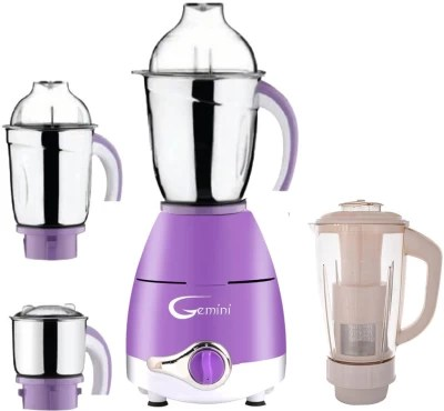 Gemini Latest Upgrade LPMG17_97 750 W Juicer Mixer Grinder(Lavender, 4 Jars)