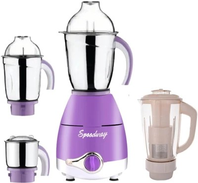 speedway Latest Upgrade LPMG17_27 750 W Juicer Mixer Grinder(Lavender, 4 Jars)