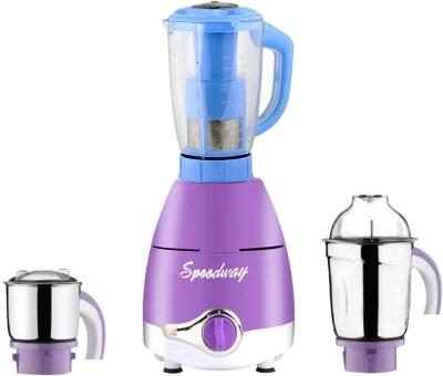 speedway ABS Plastic LPMG17_116 750 W Juicer Mixer Grinder(Lavender, 3 Jars)