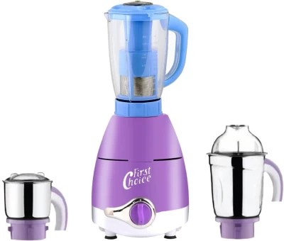 First Choice ABS Plastic LPMA17_106 1000 W Juicer Mixer Grinder(Lavender, 3 Jars)