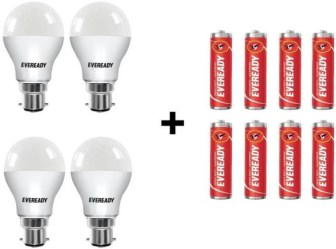 Eveready 9 W B22 LED Bulb(White, Pack of 4)