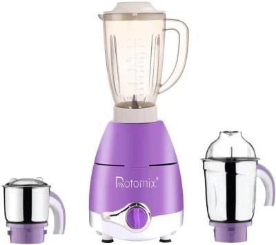 Rotomix ABS Plastic LPMA17_321 600 W Juicer Mixer Grinder(Lavender, 3 Jars)