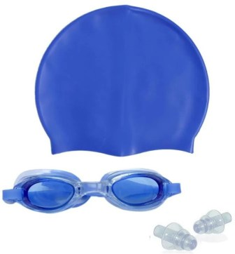 Sportshour blue swimming cap with swimming goggle Swimming Kit