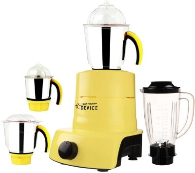 Day-Night Star Device ABS Plastic YPMG17_614MA 600 W Juicer Mixer Grinder(Yellow, 4 Jars)
