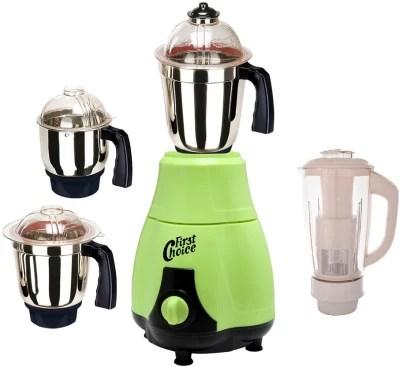 Firstchoice New_MG16-248MA 600 W Juicer Mixer Grinder(Green, 4 Jars)