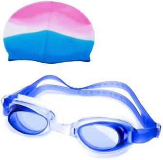 Vinto PREMIUM COMBO 1 SWIMMING CAP, 1 SWIMMING GOGGLE Swimming Kit