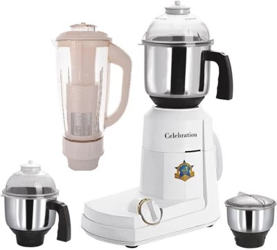 Celebration Celeb 1000 Lancer 1000 W Mixer Grinder(White, 4 Jars)