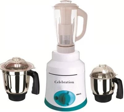 Celebration Latest Jar attachments of chutney medium & juicer jarType-418 1000 W Juicer Mixer Grinder(Multicolor, 3 Jars)