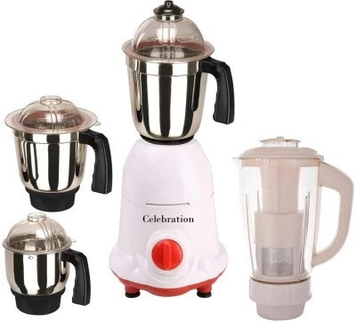 Celebration C MG16 104 1000 W Mixer Grinder(White, 4 Jars)