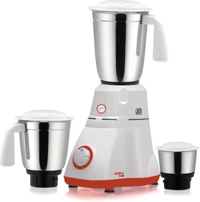 JSM IDEA 550 550 W Mixer Grinder(White, 3 Jars)
