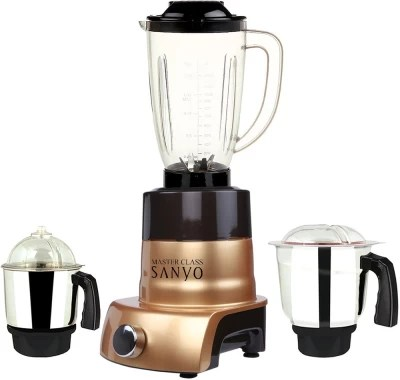 Master ClassSanyo MA ABS Body MGJ WOF 2017-173 750 W Juicer Mixer Grinder(Gold, 3 Jars)