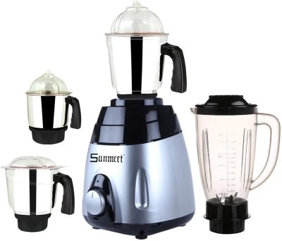 Sunmeet MA ABS Body MGJ WOF 2017-40 600 W Juicer Mixer Grinder(Multicolor, 4 Jars)