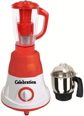 Celebration Latest Jar attachments of chutney & juicer jarType-5 600 W Juicer Mixer Grinder(Multicolor, 2 Jars)