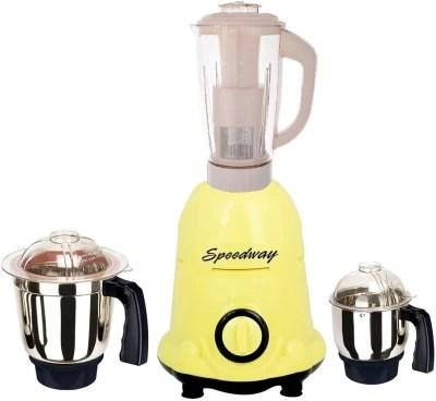 speedway Latest Jar attachments of chutney medium & juicer jarType-646 1000 W Juicer Mixer Grinder(Multicolor, 3 Jars)