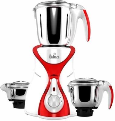 MR. Butler MG MX01 Red 550 W Mixer Grinder(Red, 3 Jars)